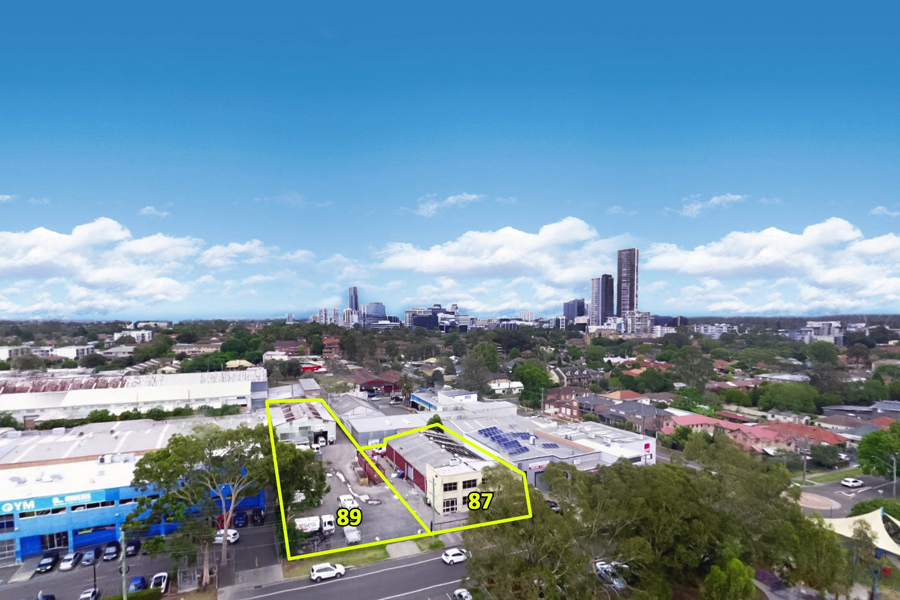 Two Rare Prime Positioned Parramatta Freehold Industrial Buildings With Yard.